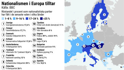 Karta Over Sveriges 25 Landskap.En Av Fyra Europeer Rostar Populistiskt Den Politiska Kartan Har
