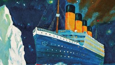 Målning av Titanic
