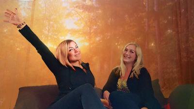 Salolaiset ystävykset Annika Fagerström ja Nina Kilpiö.