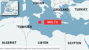 Malta är en av Europas sydligaste utposter.