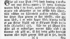 Mjödrecept från 1783