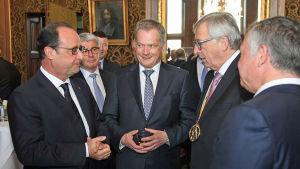 Sauli Niinistö på besök i Aachen