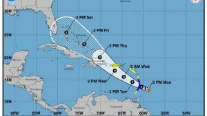 Stormen Dorian utvecklas troligtvis till en orkan då den når Puerto Rico på onsdag