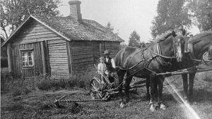 torpare med som och hästar i Vanda
