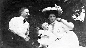 Familjen Heikel i USA år 1909.