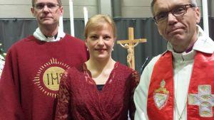 Johan Westerlund, Nina Kronlund och Björn Vikström