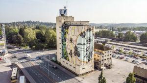 Mural i Salo av Fabio Petani.