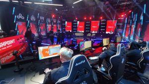 HAVU Gamingin pelaajat Flashpointin studiolla.