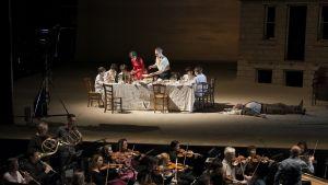 Juhlapidot oopperasta Orfeus ja  Eurydike. Lyonin ooppera 2015