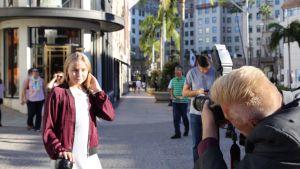 Linnea Skog från Borgå på resa i Los Angeles.