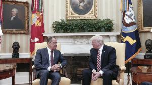 Sergej Lavrov och Donald Trump.