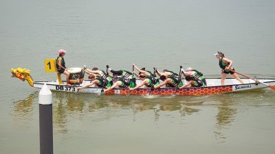 Drakbåtspaddling