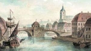 Teckning av det gamla Åbo. G.S. Sergejev, sannolikt 1811.