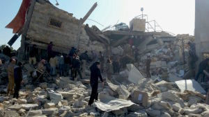 Sjukhus bombades i Maarat al-Numan