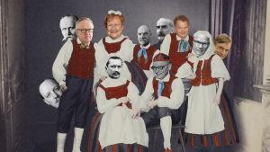 Photoshoppad bild på Finlands presidenter.