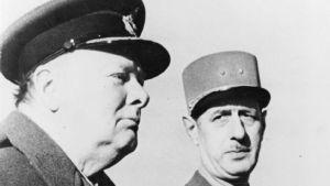 Winston Churchill och Charles de Gaulle i Marocko 1944.