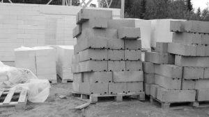 Svartvit bild på betong