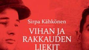 Pärmbilden på Sirpa Kähkönens faktabok Vihan ja rakkauden liekit. 2011.
