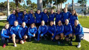 Finlands U20-damer fick känna på elitens tempo i Florida.