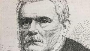 En teckning av Alfred Nobels far Immanuel Nobel d.y.