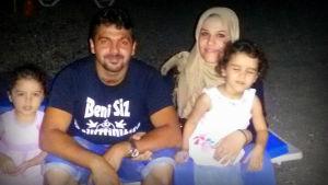 Irakisk familj som vill till Finland.