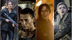 Tris (Shailene Woodley), Furiosa (Charlize Theron), Katniss (Jennifer Lawrence) och Cassie (Chloë Grace Moretz)