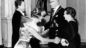 Ulfsson och Pöysti på president Kekkonens självständighetsmottagning 1963.
