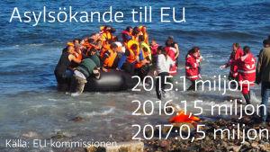 Flyktingstatistik, flyktingar på Lesbos
