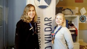 Sandra Råholm och Emilia Nylund ansvarar för jubileumsåret.