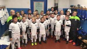 Hela laget FC Loviisa födda 2011 och 2012