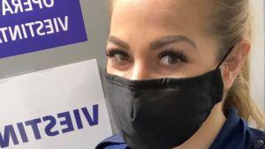 Äldre konstapel Michela Söderström från Förebyggande funktionen vid Polisinrättningen i Helsingfors. 2021.