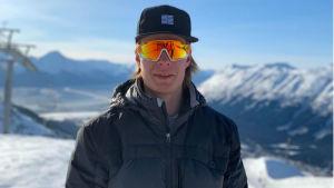Victor Malmström i slalombacken i Snowbird