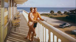 Semesterfirare vid Murphy's Myrtle Beach Resort SC på 1960-talet.