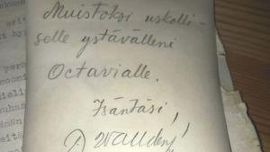 Ett gammalt brev.