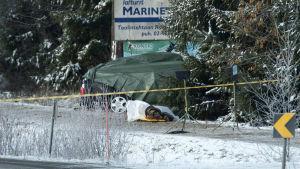 Tre personer miste livet i bilolycka på Kimitoön.