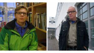 Författarna Eva-Stina Byggmästar och Thomas Brunell.