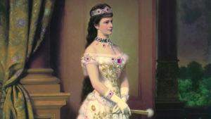 Porträtt av Elisabeth av Bayern, målat av Georg Raab.