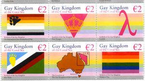 Frimärken från Gay and Lesbian Kingdom of the Coral Sea Islands.