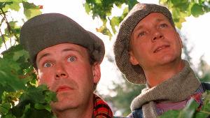 Radio Fnatt med Sås och Kopp anno 1997. På bilden från höger Peik Stenberg och Pasi Hiihtola.