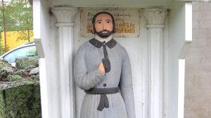 Fattiggubben vid Oravais kyrka.