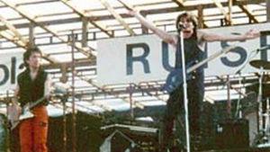 U2 esiintymässä Ruisrockissa 1982