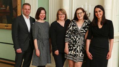 Helsingfors nya borgmästare och biträdande borgmästare.