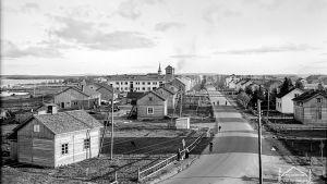 Näkymä neljäntienristeyksestä Kuusamossa