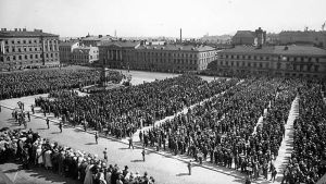 Bondemarschen till Helsingfors i IKL:s regi 1930.