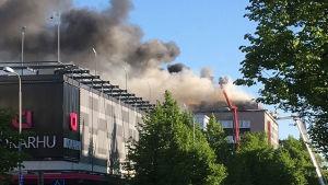 Brand på hotell i Björneborg