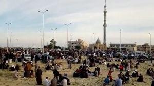 En moské som attackerades av islamister på Sinaihalvön i Egypten i november 2017