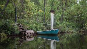 Venelossi Lemmenjoen kansallispuistossa.