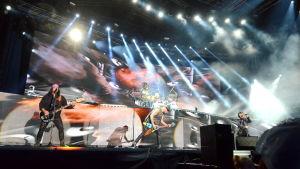 Scorpions på scen i Jakobstad.