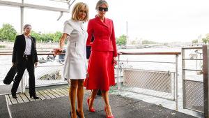 Frankrikes och USA:s presidentfruar i Paris