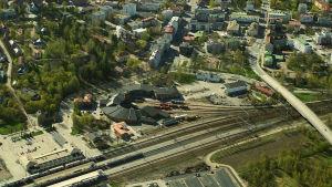 Flygbild över Riihimäki